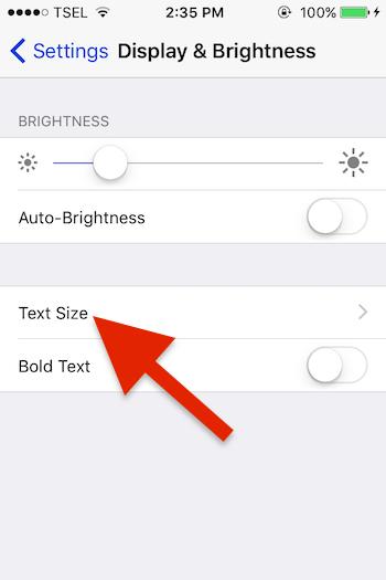 Cara Membuat Font Pada Teks Pesan Sms Lebih Besar Di Iphone 1