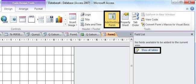 Cara Membuat Form Di Microsoft Access 2010 2