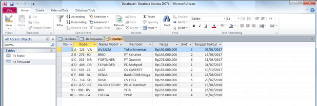 Cara Membuat Query Di Microsoft Access 2010 4