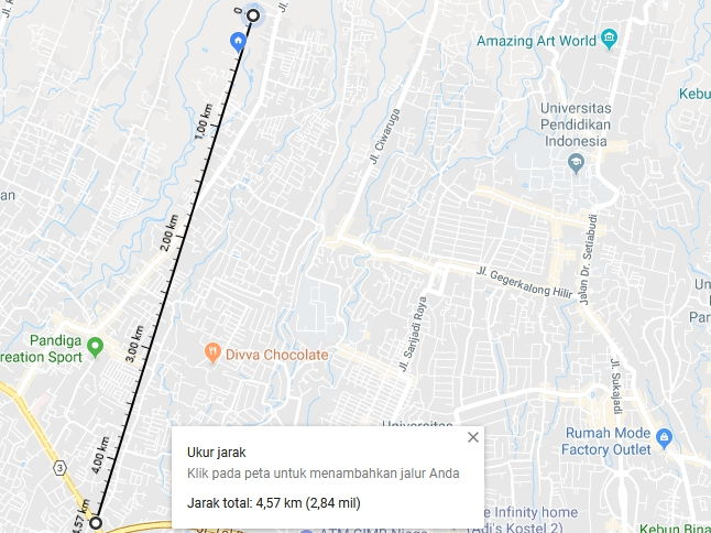 Cara Menemukan Jarak Terdekat Antara Dua Titik Di Google Maps R2