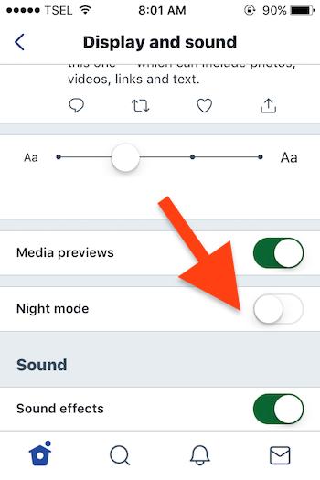 Cara Mengaktifkan Night Mode Di Aplikasi Twitter Untuk Iphone 3