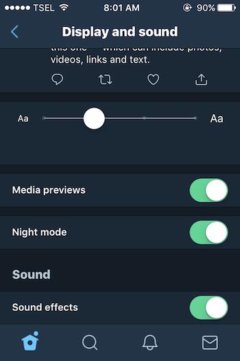 Cara Mengaktifkan Night Mode Di Aplikasi Twitter Untuk Iphone 4