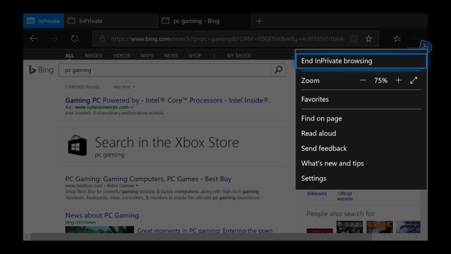 Cara Menggunakan Mode Private Browsing Di Xbox One 8