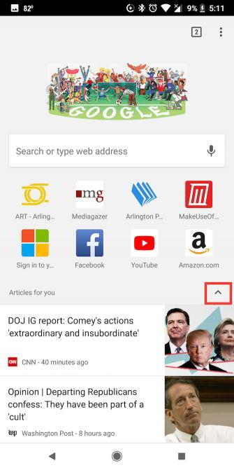 Cara Menghapus Artikel Yang Disarankan Di Chrome Pada Android 2