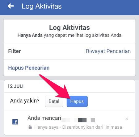Cara Menghapus Riwayat Pencarian Di Facebook R11
