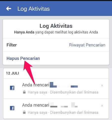 Cara Menghapus Riwayat Pencarian Di Facebook R12