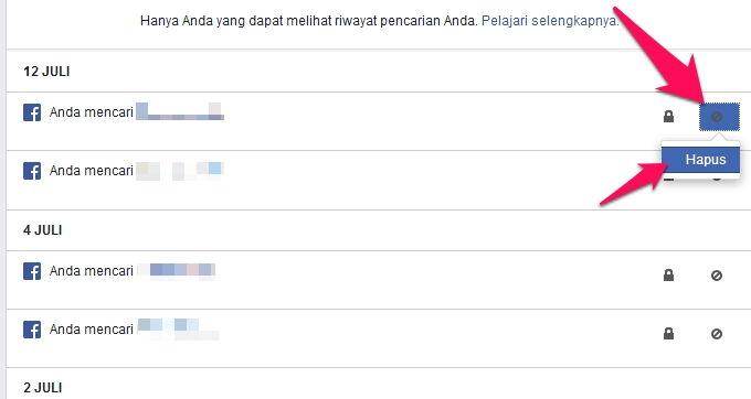 Cara Menghapus Riwayat Pencarian Di Facebook R4
