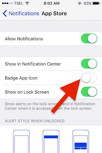Cara Menghilangkan Ikon Notifikasi App Store Di Iphone Atau Ipad 5