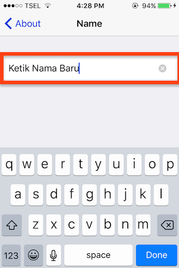 Cara Mengubah Nama Bluetooth Di Iphone 3