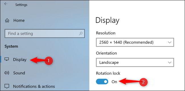 Cara Menonaktifkan Rotasi Layar Otomatis Di Windows 10 3