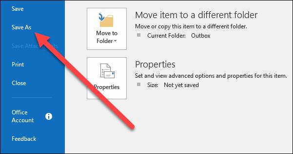 Cara Menyimpan Email Sebagai File Di Microsoft Outlook 2