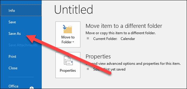 Cara Menyimpan Email Sebagai File Di Microsoft Outlook 20