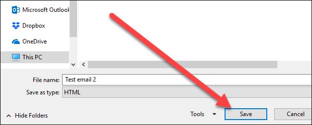 Cara Menyimpan Email Sebagai File Di Microsoft Outlook 6
