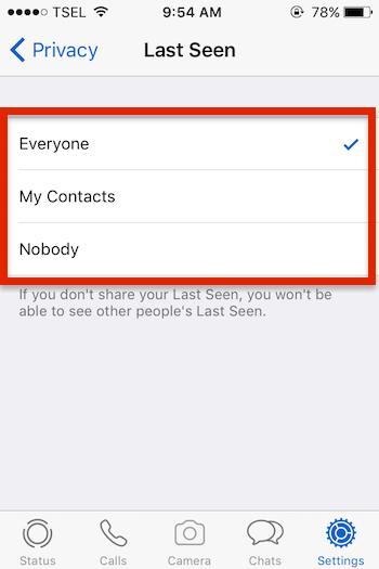 Cara Nonaktifkan Fitur Last Seen Di Whatsapp Untuk Iphone 4