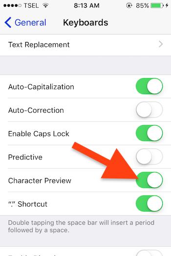 Cara Nonaktifkan Pop Up Pada Huruf Di Keyboard Iphone