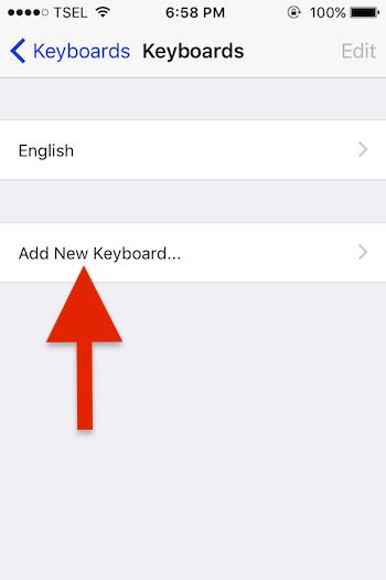 Menambahkan Emoji Pada Keyboard Iphone 2