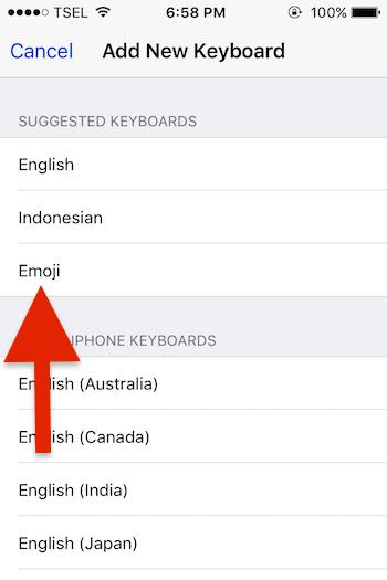 Menambahkan Emoji Pada Keyboard Iphone 3