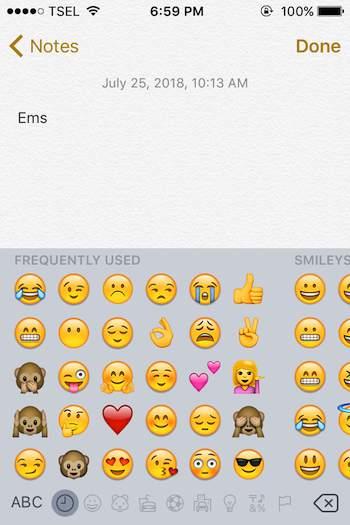 Menambahkan Emoji Pada Keyboard Iphone 6