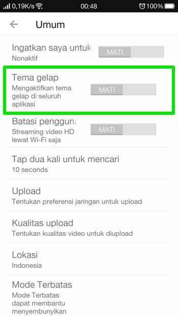 Cara Aktifkan Dark Mode Youtube Di Android 13