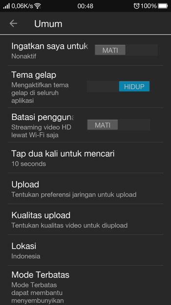 Cara Aktifkan Dark Mode Youtube Di Android 14
