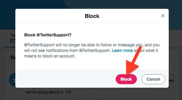 Cara Blokir Akun Seseorang Di Twitter 1