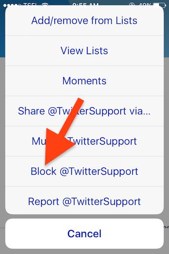 Cara Blokir Akun Seseorang Di Twitter 5