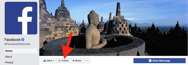 Cara Follow Dan Unfollow Akun Facebook 1