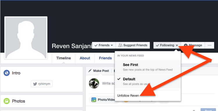 Cara Follow Dan Unfollow Akun Facebook 2