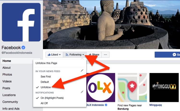 Cara Follow Dan Unfollow Akun Facebook 3