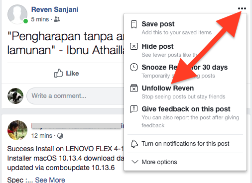 Cara Follow Dan Unfollow Akun Facebook 4