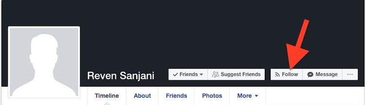 Cara Follow Dan Unfollow Akun Facebook
