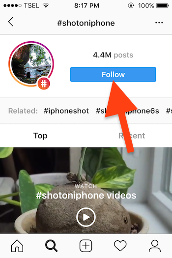Cara Follow Dan Unfollow Hashtag Instagram Untuk Ios 1