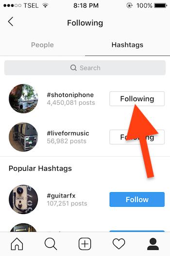 Cara Follow Dan Unfollow Hashtag Instagram Untuk Ios 2