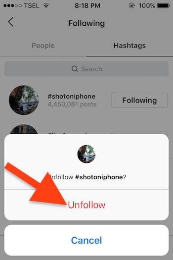 Cara Follow Dan Unfollow Hashtag Instagram Untuk Ios 3