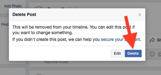 Cara Hapus Postingan Di Facebook 1