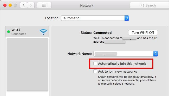 Cara Hentikan Wi Fi Yang Terhubung Secara Otomatis Di Macos 4