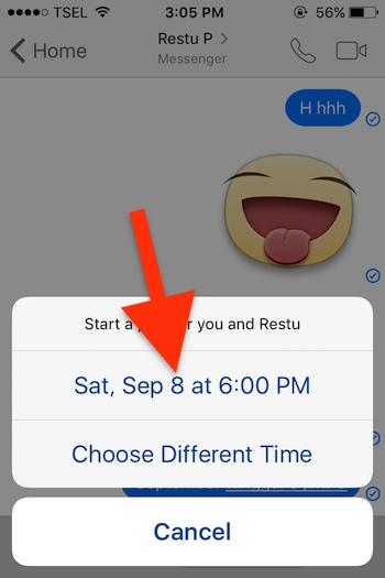 Cara Membuat Event Di Aplikasi Messenger Facebook Untuk Iphone 1