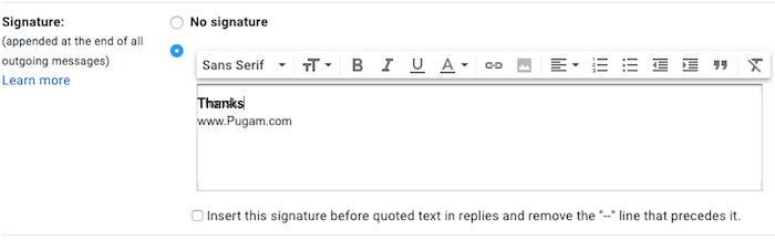 Cara Membuat Signature Pada Gmail Di Iphone Dan Mac:pc 6