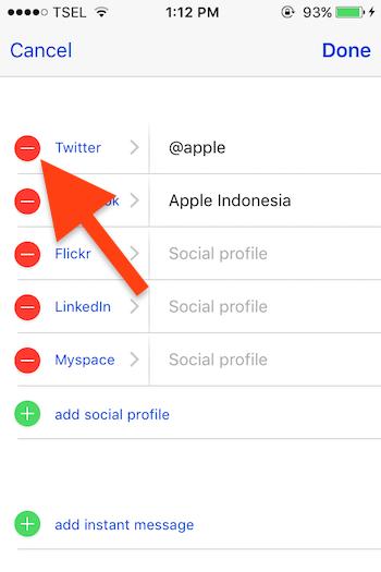 Cara Menambahkan Profil Media Sosial Pada Kontak Di Iphone 4