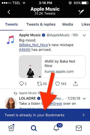 Cara Menggunakan Fitur Bookmarks Pada Twitter 2