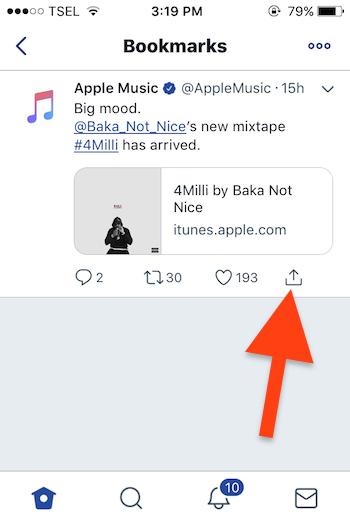 Cara Menggunakan Fitur Bookmarks Pada Twitter 4