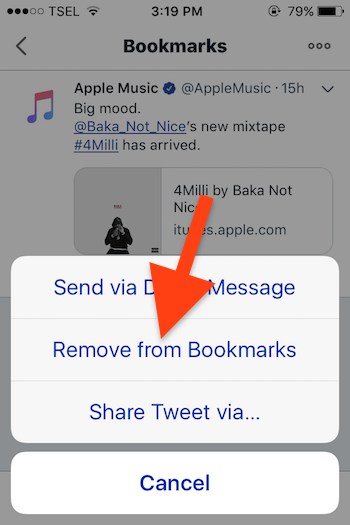 Cara Menggunakan Fitur Bookmarks Pada Twitter 6