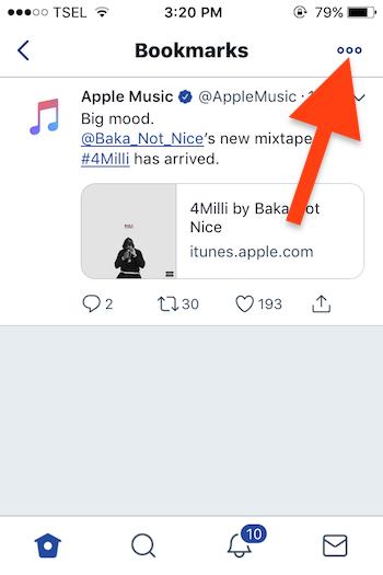 Cara Menggunakan Fitur Bookmarks Pada Twitter 7