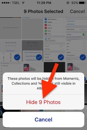Cara Menyembunyikan Banyak Foto Dari Aplikasi Photos Di Iphone Dan Ipad 4
