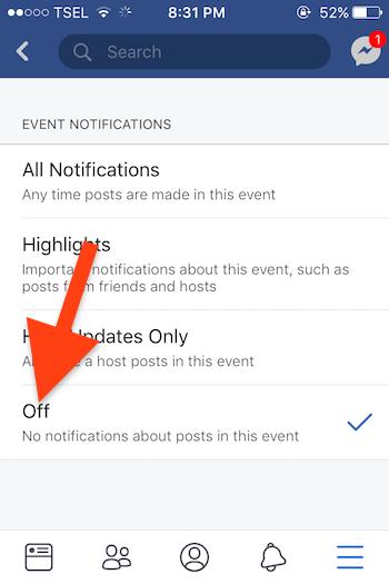 Cara Nonaktifkan Pemberitahuan Acara Pada Facebook Di Iphone Dan Mac : Pc 4