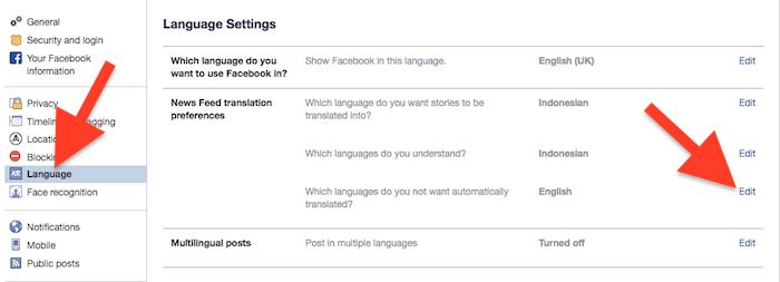 Cara Nonaktifkan Terjemahan Otomatis Pada Postingan Di Facebook 4