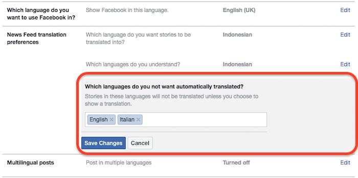Cara Nonaktifkan Terjemahan Otomatis Pada Postingan Di Facebook 5