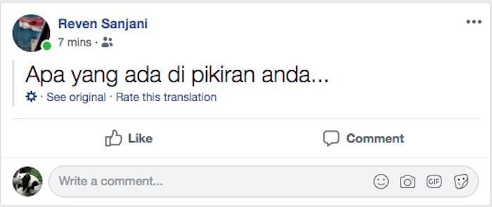Cara Nonaktifkan Terjemahan Otomatis Pada Postingan Di Facebook