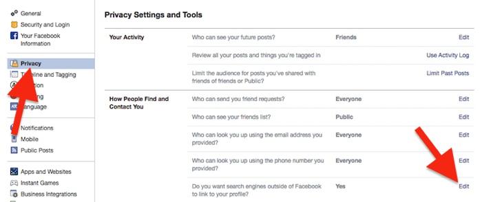 Cara Sembunyikan Akun Profil Di Pencarian Facebook 9