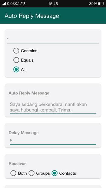 2 Cara Membalas Pesan Secara Otomatis Di Whatsapp Android 13